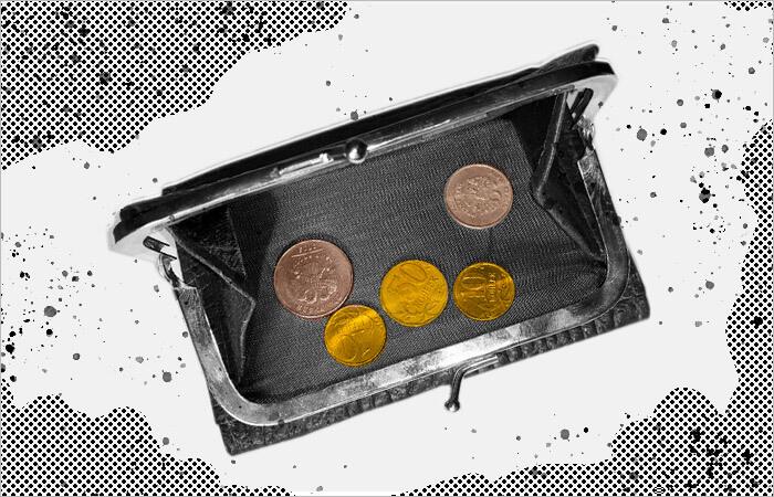 Кошелек с монетами