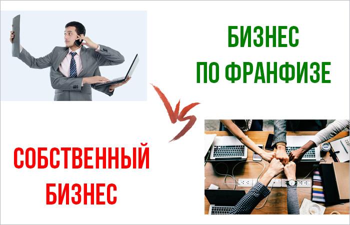 Бизнес по франшизе и собственный бизнес