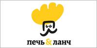 Печь и ланч логотип