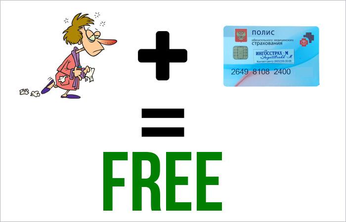Бесплатное обслуживание по полису ОМС